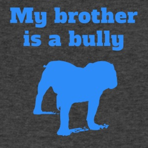 My Brother Is A Bully Bulldog - Men's V-Neck T-Shirt by Canvas