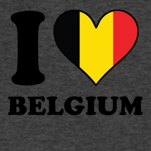 I Love Belgium Belgian Flag Heart - Men's V-Neck T-Shirt by Canvas