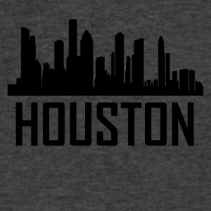 Houston Texas City Skyline - Men's V-Neck T-Shirt by Canvas