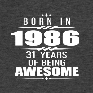 Born in 1986 31 Years of Being Awesome - Men's V-Neck T-Shirt by Canvas