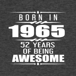 Born in 1965 52 Years of Being Awesome - Men's V-Neck T-Shirt by Canvas