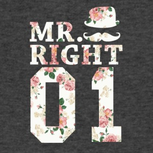Mr. Right 01 - Men's V-Neck T-Shirt by Canvas