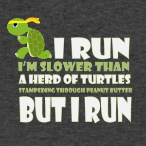 I run I'm slower than a herd of turtles - Men's V-Neck T-Shirt by Canvas