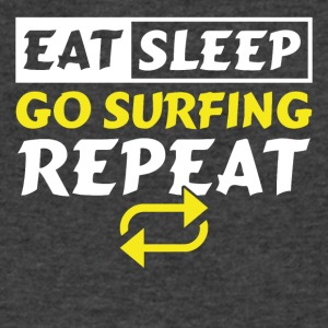 Eat Sleep Go Surfing Repeat - Men's V-Neck T-Shirt by Canvas