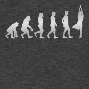 It s Just Evolution Yoga - Men's V-Neck T-Shirt by Canvas