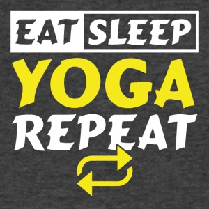 Eat Sleep Repeat Yoga - Men's V-Neck T-Shirt by Canvas