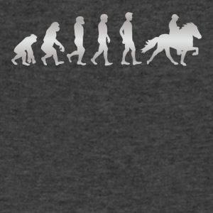 It s Just Evolution Horse Rider - Men's V-Neck T-Shirt by Canvas