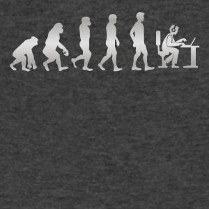 It s Just Evolution Computer - Men's V-Neck T-Shirt by Canvas