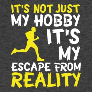 Running escape from reality - Men's V-Neck T-Shirt by Canvas