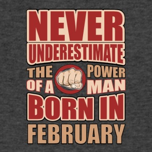 The Power of a Man Born in February - Men's V-Neck T-Shirt by Canvas