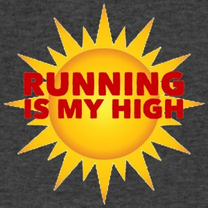 Running is my High - Men's V-Neck T-Shirt by Canvas