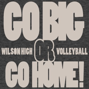 Go Big Or Go Home Wilson High Volleyball - Men's V-Neck T-Shirt by Canvas
