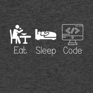 Eat Sleep and Code - Men's V-Neck T-Shirt by Canvas