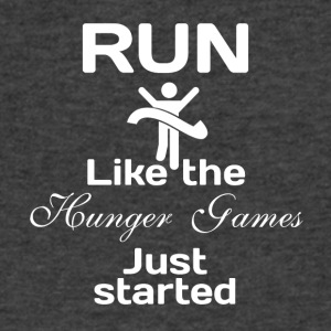 Run like the Hunger Games just started - Men's V-Neck T-Shirt by Canvas