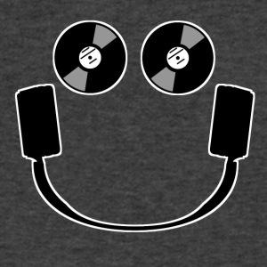 Smiley Headphones - Men's V-Neck T-Shirt by Canvas