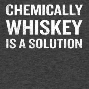 Chemically Whiskey Is A Solution Funny Drinking - Men's V-Neck T-Shirt by Canvas