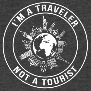I'm a Traveler, Not a Tourist - Men's V-Neck T-Shirt by Canvas