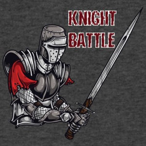 KNIGHT BATTLE - Men's V-Neck T-Shirt by Canvas