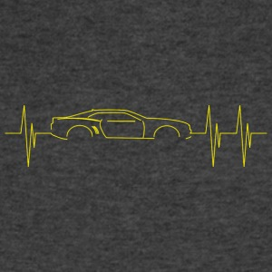 5th Generation Camaro Heartbeat Yellow - Men's V-Neck T-Shirt by Canvas