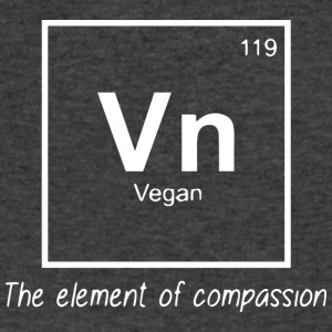 Vegan - The element of compassion - Men's V-Neck T-Shirt by Canvas