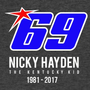 nicky Hayden RIP - Men's V-Neck T-Shirt by Canvas