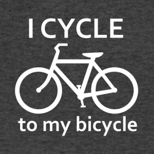 I Cycle to my Bicycle - Men's V-Neck T-Shirt by Canvas