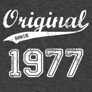 1977 - Men's V-Neck T-Shirt by Canvas