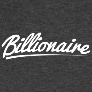 Billionaire - Underlined Design (White Letters) - Men's V-Neck T-Shirt by Canvas