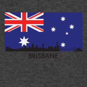 Brisbane Australia Skyline Australian Flag - Men's V-Neck T-Shirt by Canvas