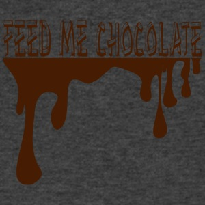 Feed Me Chocolate - Men's V-Neck T-Shirt by Canvas
