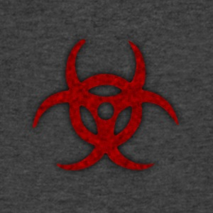 TOXIC BIOHAZARD RED BLOOD SYMBOL - Men's V-Neck T-Shirt by Canvas