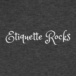 Etiquette Rocks T-shirt - Men's V-Neck T-Shirt by Canvas