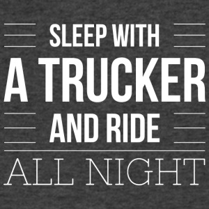 Sleep with a trucker - Men's V-Neck T-Shirt by Canvas
