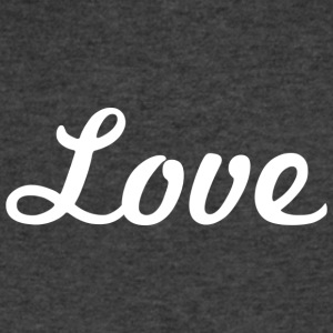 Love - Cursive Design (White Letters) - Men's V-Neck T-Shirt by Canvas