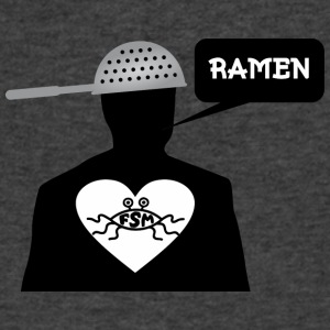 Ramen Pastafarian in heart - Men's V-Neck T-Shirt by Canvas