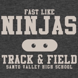 Fast Like Ninjas Track Field Santo Valley High S - Men's V-Neck T-Shirt by Canvas
