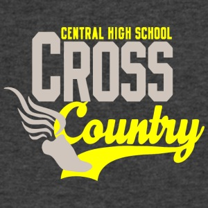 Central High School Cross Countrya - Men's V-Neck T-Shirt by Canvas
