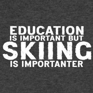 Education is important but Skiing is importanter - Men's V-Neck T-Shirt by Canvas