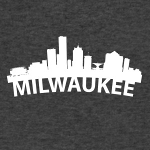 Arc Skyline Of Milwaukee WI - Men's V-Neck T-Shirt by Canvas