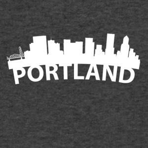 Arc Skyline Of Portland OR - Men's V-Neck T-Shirt by Canvas