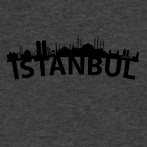 Arc Skyline Of Istanbul Turkey - Men's V-Neck T-Shirt by Canvas