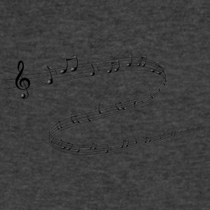 Musical Notes - Men's V-Neck T-Shirt by Canvas