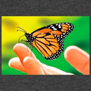 MONARCH HAND - Men's V-Neck T-Shirt by Canvas