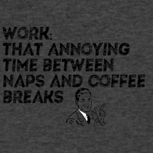 WORK NAPS COFFEE - Men's V-Neck T-Shirt by Canvas