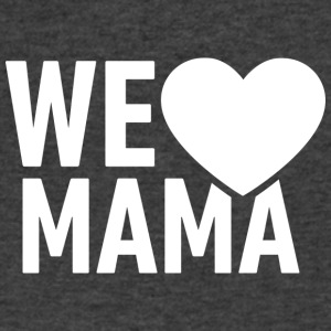 we love mama! Mum! Mommy! - Men's V-Neck T-Shirt by Canvas