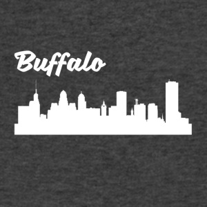 Buffalo NY Skyline - Men's V-Neck T-Shirt by Canvas