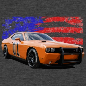 Dodge Challenger RT America Muscle Car Shirt - Men's V-Neck T-Shirt by Canvas