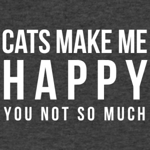 Cats make me happy - Men's V-Neck T-Shirt by Canvas