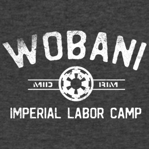 Wobani Labor Camp - Men's V-Neck T-Shirt by Canvas