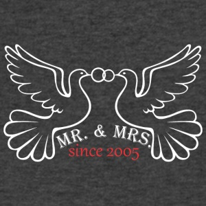 Mr And Mrs Since 2005 Married Marriage Engagement - Men's V-Neck T-Shirt by Canvas